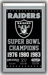 Raiders Champion Football Team Memorable Flag 90x150cm3x5ft Super banner