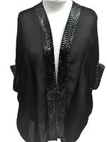 New Plus size Open Front Floaty Chiffon Cardigan type Special Occasions Jacket