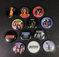 """Accept 1"""" PIN BUTTON lot Heavy Metal Udo Balls To The Wall Rock German Thrash"""