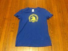 Women's Adidas Boston Marathon 2014 Royal Blue Yellow T-Shirt sz M