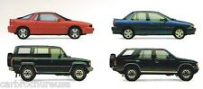 1991 ISUZU Brochure: IMPULSE by Lotus,TROOPER,AMIGO,PickUp Truck,RODEO,STYLUS,