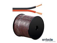 Goobay 100m Lautsprecherkabel Boxen Kabel 2x 1,5mm² CCA Rolle Rot Schwarz NEU
