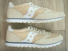Nice! SAUCONY JAZZ LOW PRO TAN WHITE SUEDE S1866-245 WOMEN'S RUNNING SHOES 10