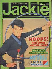 Jackie Magazine 1 September 1984 Issue 1078     Steve Strange     The Eurythmics