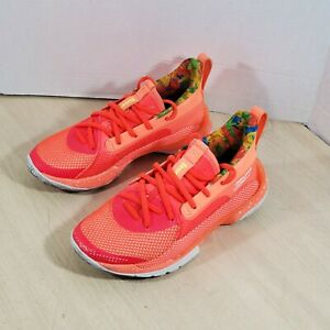 Under Armour Curry 7 Sour Patch Kids Peach Rare Sz 4 Youth, Womes Size 5.5 To 6
