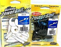 Berkley PowerBait Soft Power Grub Fishing Bait - Choice of Color ( One Package )