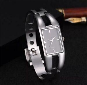 Women Watch LUXURY Bracelet Quartz Watches Casual Slim Womens Bangle Rectangle
