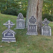 Outdoor Halloween Tombstone Decoration Scary Spooky Haunted House Decor 4 Pack