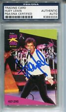 HUEY LEWIS AUTOGRAPHED SIGNED HUEY LEWIS AND THE NEWS PSA/DNA PRO SET MUSIC CARD