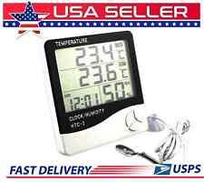 LCD Digital CLOCK, Hygrometer Humidity Meter Indoor/outdoor  Thermometer  C/F