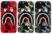 A Bathing Ape Bape Shark Camo Cover Case For iPhone 11 Pro Max XS XR 8 7 Plus