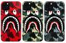 A Bathing Ape Bape Shark Camo Cover Case For iPhone 11 Pro Max XS XR 8 7 Plus