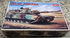 M1-A1 ABRAMS US Main Battle Tank Academy #1345 scale 1/35 NIOB Hobby Model Kit