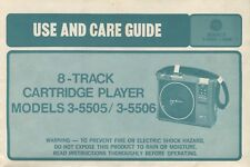 Ge 3-5505/3-5506 8-Track Original Users Manual