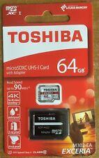 Toshiba Exceria M302 64GB Micro SD Memory Card 90 MB/s 4K Authentic Guaranteed