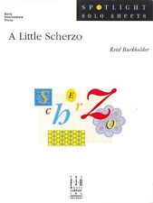 A Little Scherzo Early Elementary Piano Solo Sheet Music Reed Burkholder