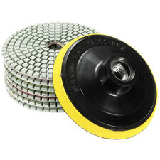 8Pcs Diamond Polishing Pads 4 inch Wet/Dry Set For Granite Stone Concrete M V6V2