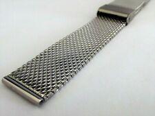 bracciale mesh massiccio orologi acciaio maglia milano silver varie misure watch
