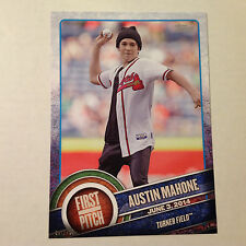 AUSTIN MAHONE Braves Singer #FP-07 2015 Topps First Pitch 5x7 #ed/499 made