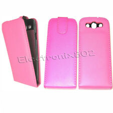 Leather Flip Case cover Pouch Protector For Samsung Galaxy i9300 S3 SIII Pink