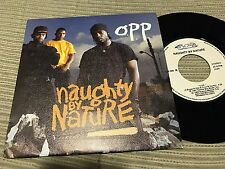 "NAUGHTY BY NATURE SPANISH 7"" SINGLE SPAIN SAME SIDED PROMO O.P.P. HIP HOP 92"