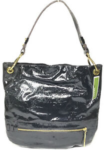 NWT orYANY Lucy Croco Patent Leather Hobo, Black Color, MSRP: $375.00