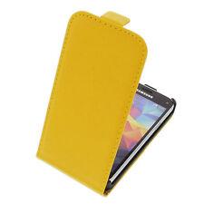 Funda para Samsung Galaxy S5 Mini Protectora Teléfono Móvil con Tapa Amarillo