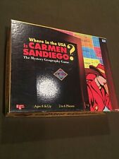 Where in the USA is Carmen Sandiego Board Game Mystery Geography 1993