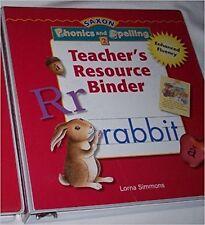 Grade 2 Saxon Phonics and Spelling Teacher's Resource Binder Edition 2nd