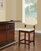 Counter Stool Bar Pub Bistro Chair Kitchen Dining Cushioned Padded Seat Wooden