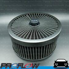 "PROFLOW Flow Top Air Filter Cleaner 9"" x 4"" Washable Reusable Flat Base Black"