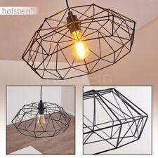 Lampe à suspension Lampe pendante Retro Lustre Plafonnier Luminaire Acier noir