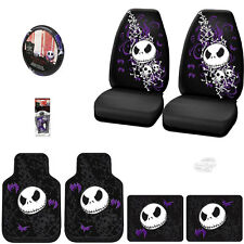 8PC JACK SKELLINGTON NIGHTMARE BEFORE CHRISTMAS CAR SEAT COVER SET FOR CHEVY