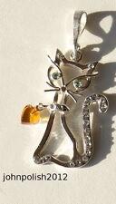 Markenlose Echte Edelstein-Halsketten & -Anhänger mit Bernstein und Herz