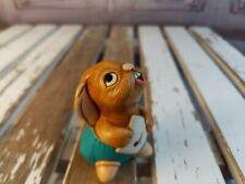 vtg vintage Pendelfin statue made England rabbit bunny bath rolly singing chorus