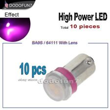 10pc T11 BA9S 64111 53 Pink High Power LED Reading Map Light Bulb Car 12V Lamp