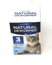 Natural Dewormer For Cats - 3 Tablets - Exp. March 2022