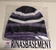 Supreme Heather Stripe Beanie Purple Hat Box Logo new FW17 100% Authentic