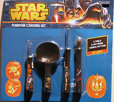 STAR WARS PUMPKIN CARVING KIT Tools Patterns Halloween Jack O' Lantern Yoda NEW