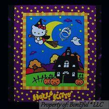 BonEful Fabric Cotton Quilt Block HELLO KITTY Halloween Lg Applique Girl Holiday