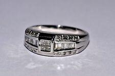 (JFJ)Vintage Square Diamond Engagement Platinum Bridal Ring. Beautiful - P5