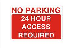 No hay aparcamiento de 24 horas, se requiere acceso a diseño Letrero De Metal