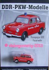 DDR-PKW Modell Trabant 500 FEUERWEHR Nr. 16 Sammelserie DDR-PKW-Modelle