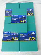 5 x Brand New Sony BCT-94MXL MPEG IMX Digital Broadcast Quality Video Cassettes