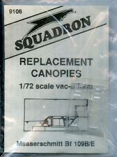 Squadron 1:72 Messerschmit Bf 109B/E Replacement Canopy Vacuform #9106
