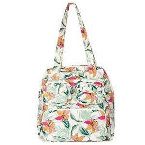 New Lug Travel Puddle Jumper Packable Tote Bag LIghtweight gift LILY SAND Floral