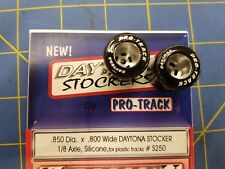 Pro Track S250 Daytona stockers .850 x .800 rear Tires 1/8 axle Silicone MiAmer