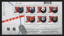 Canada Stamps - Souvenir sheet - 2013, Canadian NHL Team Logos #2661 - MNH