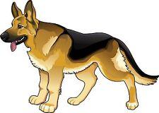 BERGER allemand chien logo méfiez-vous vit ici sticker autocollant étiquette en vinyle graphique V1