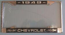 49 1949 Chevy car truck Chrome license plate frame
